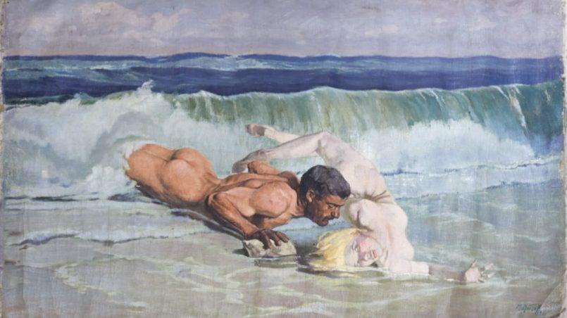Михаил Лютов (1887 – 1965), Игра на вълните, 1926